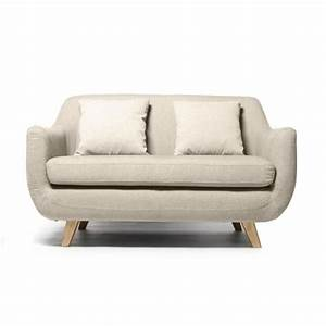 miliboo canape design scandinave 2 places cre achat With canapé convertible 2 places scandinave