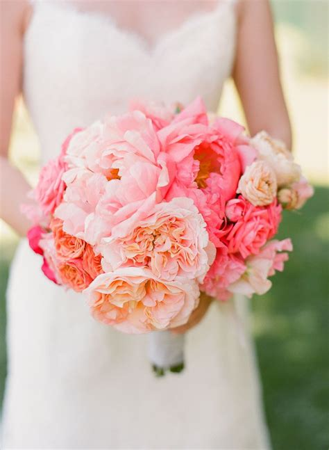 breathtaking peony wedding bouquet