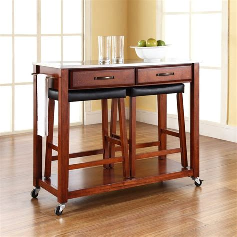 stools for kitchen island kitchen island set with stools on wheels about kitchen