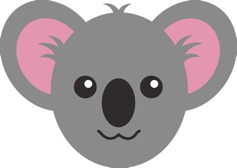 cute koala face  clip art