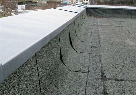flachdach ohne attika unsichere abdichtung an der attika