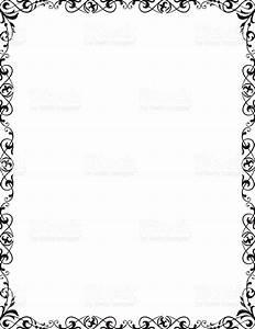decorative frame corner vignette letter page size stock With letter size frame
