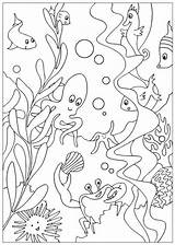 Sea Coloring Under Pages Printables sketch template
