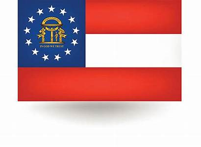 Georgia Flag State Vector Clip Illustrations Bulldog