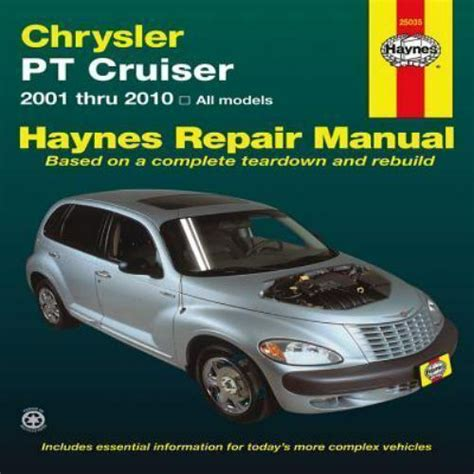 free service manuals online 2006 chrysler pt cruiser navigation system 2001 2010 haynes chrysler pt cruiser repair manual 1563929635 ebay