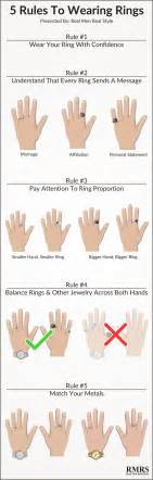 how do you wear your wedding rings 5 ring wearing infographic