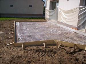 bl assainissement terrasse beton fondations coffrage With comment faire un coffrage pour terrasse