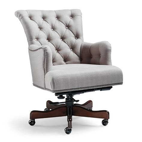nailhead trim office chair frontgate