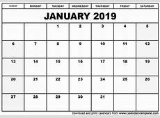 Elegant 50 Sample Sample Printable Calendars 2019
