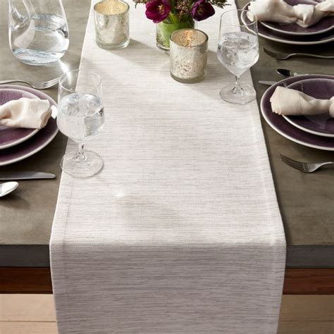 grasscloth  white table runner reviews crate  barrel