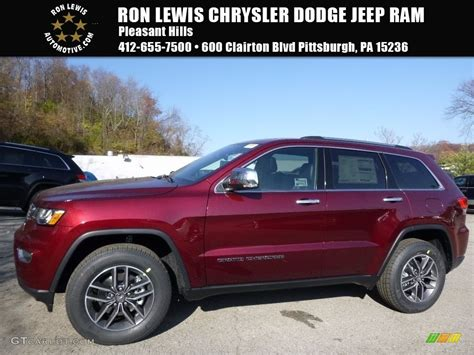 2017 Velvet Red Pearl Jeep Grand Cherokee Limited 4x4