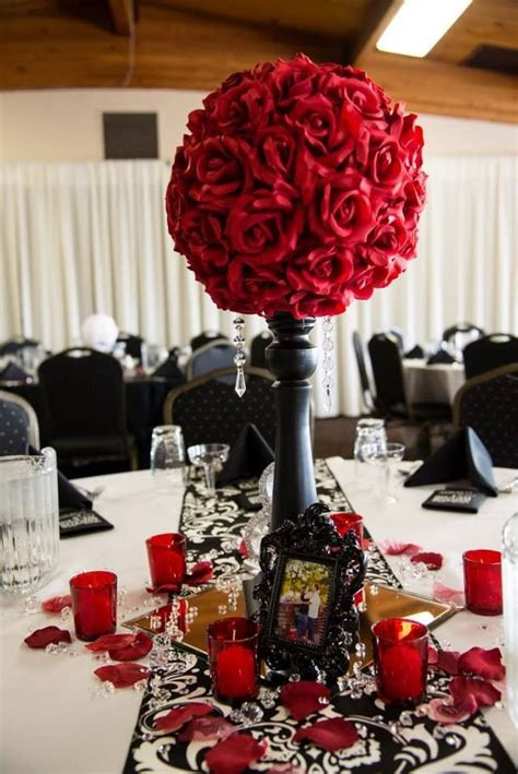 black and white diy wedding i was in with our table decor by