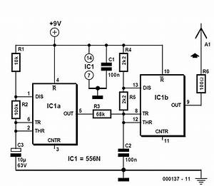 Wire Tracer  Transmitter  Schematic Circuit Diagram