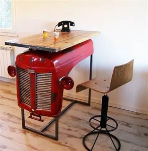 Table Bar Industriel : bar console table haute industrielle et son tabouret ~ Teatrodelosmanantiales.com Idées de Décoration