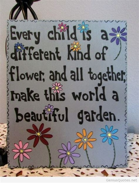 child    kind  flower quote genius