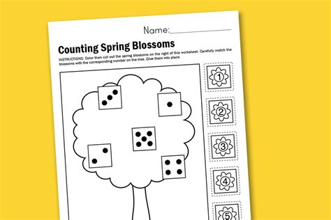 worksheet wednesday counting spring blossoms paging