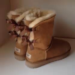 39 ugg boots 39 s uggs with bows on back size 8 from 39 s closet on poshmark