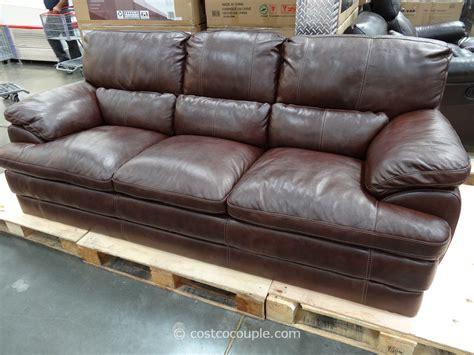 costco leather sofa in store simon li bella leather sofa