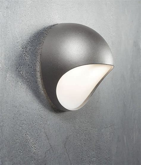 moon shaped exterior led wall light  diffuser