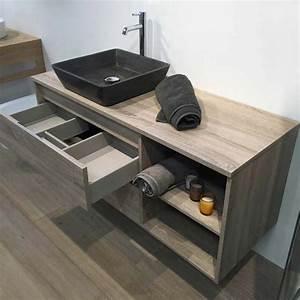 meuble salle de bain cambrian 120 cm 2 tiroirs terra With salle de bain design avec meuble 120 salle de bain
