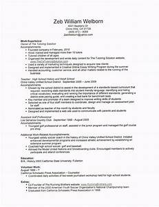 zeb welborn39s resume the tutoring solution With sample resume for tutors