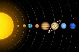 Vector Solar System With Planets Diagram Stock Illustration - Download Image Now