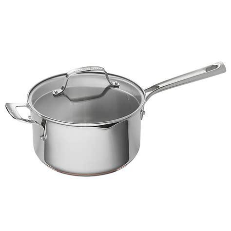 emeril  qt stainless steel  copper core sauce pan bed bath