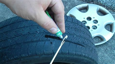 How To Repair A Punctured Tire Youtube