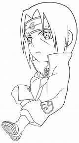Desenhar Colorir Itachi Uchiha sketch template