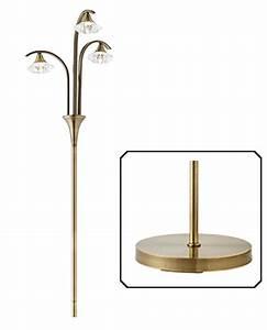 endon 39langella39 floor lamp with crystal shades antique With endon antique brass floor lamp