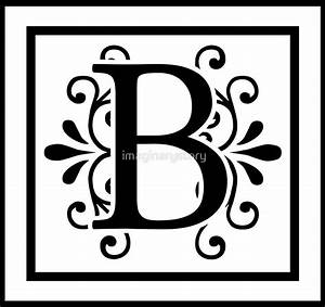 quotletter b monogramquot by imaginarystory redbubble With letter initials