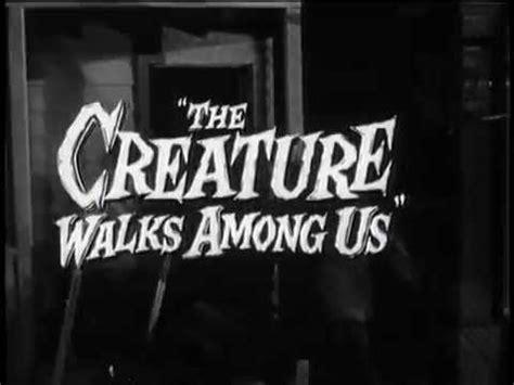 the creature walks among us vintage horror trailer