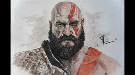 Drawing Kratos God Of War 4 Qp Games Youtube