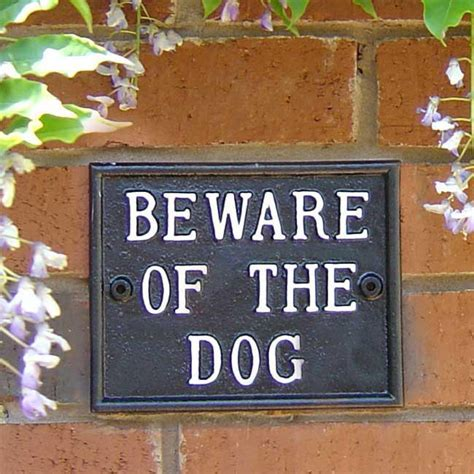 Beware Of The Dog Sign Garden Signs & General Signs   Cast