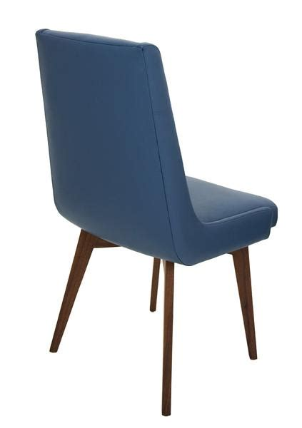 kensington dining chair in faux navy leather modshop