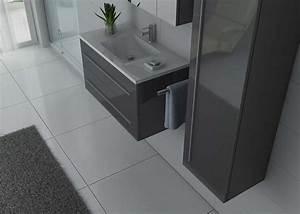 Meuble Simple Vasque : meuble de salle de bain gris meuble de salle de bain 1 vasque 90 cm nova distribain ~ Teatrodelosmanantiales.com Idées de Décoration