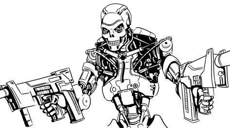 terminator coloring pages    print
