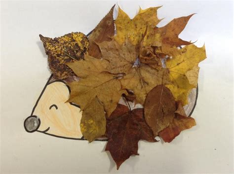 leaf hedgehog template instructions kids fall crafts prek crafts autumn eyfs