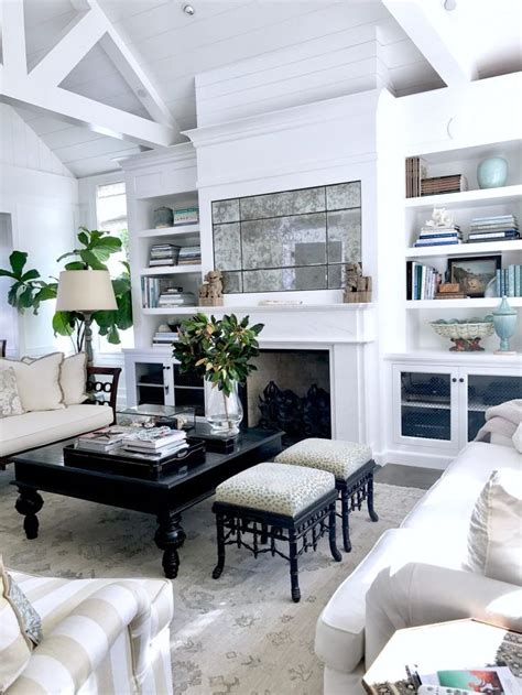 Casual Classic Southern House by New House Living Room In Neutrals And Pale Aqua