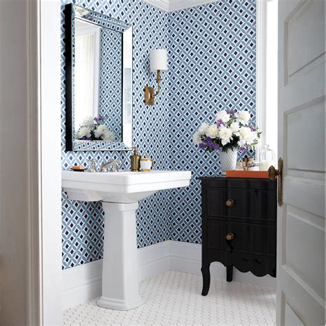 Bathroom Wallpaper by Bathroom Wallpaper 4 Looks We Canadian Living