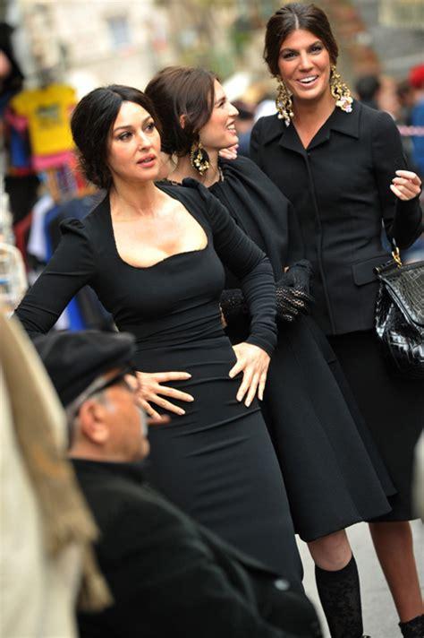 Monica Bellucci models for Dolce & Gabbana's new Autumn ...