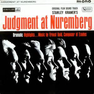 Nuremberg Track Record by Original Soundtrack Judgment At Nuremberg Uk Vinyl Lp