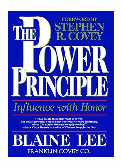 Principle Power Influence Principles Covey Books Blaine