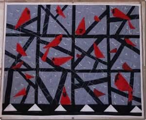 Red Bird Quilt Pattern