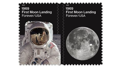 stamps celebrate apollo moon mission anniversary