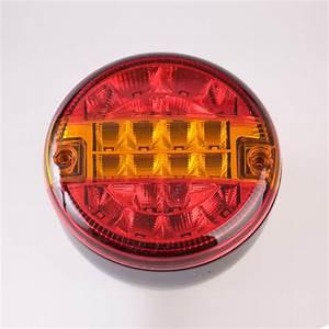 1pcs 10 30v 140mm Universal Led Rear Round Tail Lamp Light Lorry Truck Trailer Lights Car