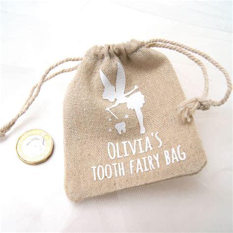 personalised tooth fairy bag   hummingbird card company notonthehighstreetcom