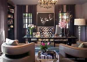 Khloe Kardashian Office - Contemporary - den/library