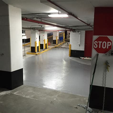 Parking Garage Floor Toronto Main Exit Ramp Waterproof