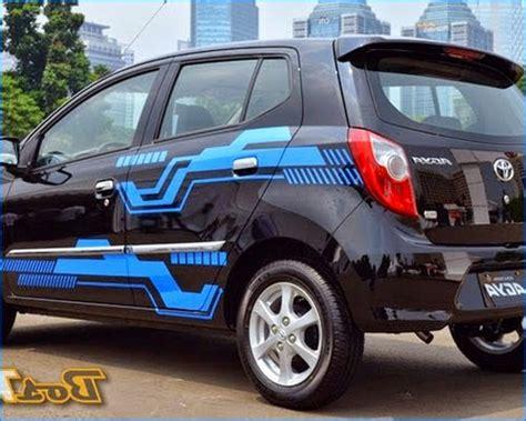 Modifikasi Knalpot Mobil Standar by Modifikasi Mobil Agya Terbaru Trd Tipe G Warna Merah
